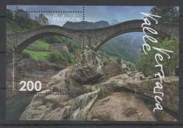 SWITZERLAND  ,2016, MNH,BRIDGES, MOUNTAINS,  S/SHEET - Bridges