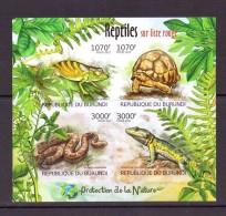 BURUNDI 2012 PROTECTION DE LA NATURE-REPTILES  YVERT N°NEUF MNH** - Non Classés