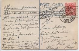 CTN45- GRANDE BRETAGNE CPA OBL. PAQUEBOT CABO VERDE 27/8/1910 - Postmark Collection