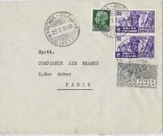 CTN45- ITALIE AEROGRAMME ROMA / PARIGI 29/7/1935  COTE EUR 175 - 1900-44 Victor Emmanuel III