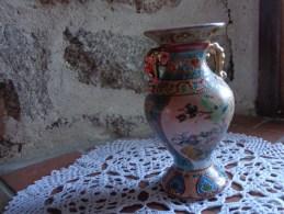 Vase Asiatique -hauteur 14cm-decor Oiseau Et Fleurs - Asian Art