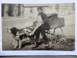 CPA 08 - Attelage De Chien,  Un Marchand De Légumes Dans Les Ardennes , 1904 - Marchands Ambulants
