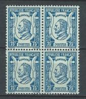 """Yt 209 Bloc De 4 """" Pierre De Ronsard """" 1924 Neuf **"""