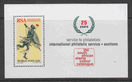 South Africa 1975 World Post Day / The South African Stamp Colour Catalogue M/s ** Mnh (20923A) - Blokken & Velletjes
