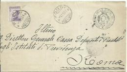 AT124-Lettera Con 50 Cent. Michetti 1.11.1924 Da Fondi Per Roma - Storia Postale