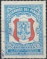 PERU 1954 Obligatory Tax. National Marian Eucharistic Congress Fund - 5c Arms  FU - Peru