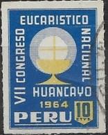 PERU 1962 Obligatory Tax. 7th National Eucharistic Congress Fund - 10c  Symbol Of Eucharist FU - Peru