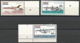 Micronesia -  1984 Airplanes Set Of 3 MNH **   SG 21-3  Sc C1-3 - Micronesia