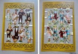 Lot 2 Planches Decoupis  Enfants  - 8 Sujets ( Hauteur: 8 Cm ) Par Planche - Ragazzi
