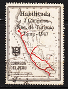 ##11,Pérou, Peru, Congrès Tourisme, Lima, Géographie, Geography, Surimpression, Overprint - Peru
