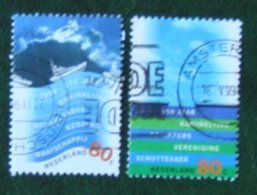 Nederland Waterland NVPH 1822-1823 (Mi 1716-1717); 1999 Gestempeld / USED NEDERLAND / NIEDERLANDE - 1980-... (Beatrix)