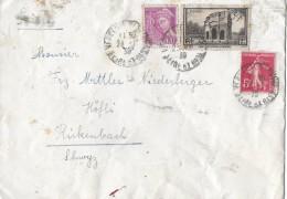 FRANKREICH - RICKENBACH → Bedarfsbrief Mit Mischfrankatur Anno 1939 - Frankreich
