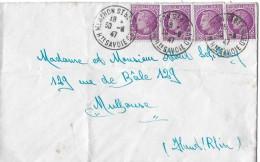 MENTHON ST.BERNARD/FRANKREICH - RICKENBACH → Bedarfsbrief Mit Mehrfachfrankatur Anno 1947 - Covers & Documents