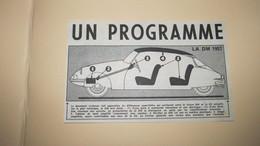 CITROËN - DS Et DM - LA DM 1957 UN PROGRAMME - PUBLICITE DE PRESSE DE 1956. - Publicités