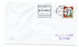 """BB136 - ITALIA  1995   , Lettera Con Annullo Targhetta """" ... ANPI GENOVA... """" - 6. 1946-.. Repubblica"""
