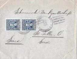 GUATEMALA - ST.GALLEN → Max Rohner Guatemala City An Schw.Bankgesellschaft St.Gallen 1927 - Guatemala