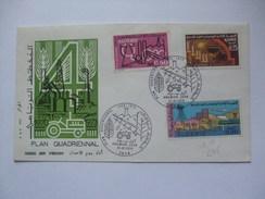 ALGERIA 1970 PLAN QUADRIENNAL FDC - Algeria (1962-...)