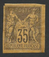 French Colonies, 35 C. 1878, Sc # 36, Mi # 44, MH - Sage