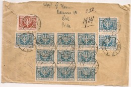 LETTRE COVER POLEN POLSKA Inflation Cover 100.000Mk + 12* 200.000 Mk 1927 - 1919-1939 Republik