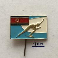 Badge (Pin) ZN003608 - Speed Ice Skating North Korea - Skating (Figure)