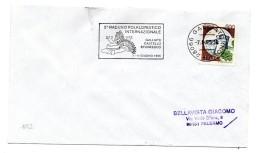 """BB152 - ITALIA  1995  , Lettera Con Annullo Targhetta """" ... RADUNO FOLKLORISTICO GALLIATE.. """" - 6. 1946-.. Repubblica"""