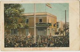July 20, 1901 Manifestacion En Honor De Colombia Lima Legacion De Colombia Edit Eduardo Polack - Pérou
