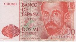 (B0742) SPAIN, 1980 (1983). 2000 Pesetas. P-159. XF - [ 4] 1975-… : Juan Carlos I