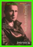 MÉTIERS, ÉCRIVAIN - BERTOLT BRECHT (1898-1956)  - NUIT EN 1998 - - Métiers