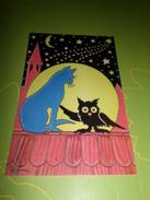Carte Postale Illustrateur Patrick Hamm  Chat  Amour Félin N°6 Rencontre Nocturne - Hamm