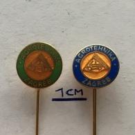 Badge (Pin) ZN003640 - Food Agrotehnika Zagreb Croatia Yugoslavia - Food