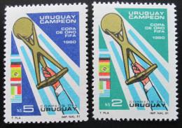 URUGUAY 1980 COPA DE ORO SC# 1099-1100 Fußballgoldpokal 1980 Mi# 1612-13 MNH Postfrisch
