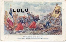 MILITARIA : 2 Scans ; Le Drapeau Du 2em Zouaves Décoré Apres La Bataille De Solférino Le 24 Juin 1859 En ( Suite ) - Andere Kriege