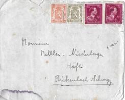 BELGIEN - RICKENBACH/SUISSE → Bedarfsbrief Anno 1947 - Briefe U. Dokumente