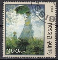 "1215 Guinea Bissau 2001 "" Woman With A Parasol "" Quadro Dipinto Da C. Monet Impressionismo  Paintings Used - Guinea-Bissau"