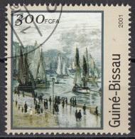 "1216 Guinea Bissau 2001 "" Il Molo "" Quadro Dipinto Da C. Monet Impressionismo  Paintings Used - Guinea-Bissau"