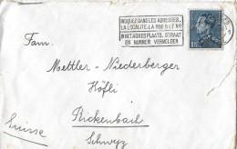 BRUXELLES/BELGIEN - RICKENBACH/SUISSE → Bedarfsbrief Anno 1939 - Covers & Documents