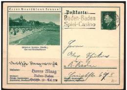 Germania/Germany/Allemagne: Intero, Stationery, Entiers - Casinò, Casino, Spiaggia, Beach, Plage - Giochi