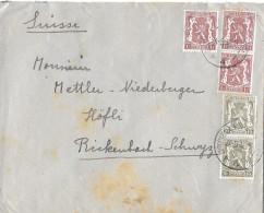 BRUXELLES/BELGIEN - RICKENBACH/SUISSE → Bedarfsbrief Anno 1945 - Briefe U. Dokumente