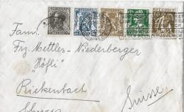 BRUXELLES/BELGIEN - RICKENBACH/SUISSE → Bedarfsbrief Anno 1936 - Covers & Documents