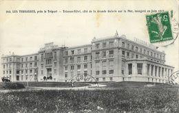 Les Terrasses, Près Le Tréport - Trianon-Hôtel, Côté De La Grande Galerie Sur La Mer, Inauguré En Juin 1912 - Hotels & Restaurants