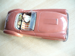 "Blechauto MB190 ""Michael Seidel"" (346) - Antikspielzeug"