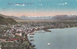 Bregenz Am Bodensee Und Die Alpen (20464) * Karte Von 1909 * 16. 8. 1920 - Bregenz