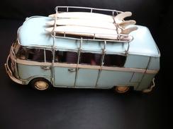 """Blechauto """"VW-Bus Mit Surfbrettern"""" NTK-502 (348) - Antikspielzeug"""