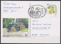 BRD Ganzsache 2001 PSo 74 Gelaufen BEPHILA 8.2.2001 Wst. Leonhard Fuchs  SSt. Trachten( D 3324 ) - BRD