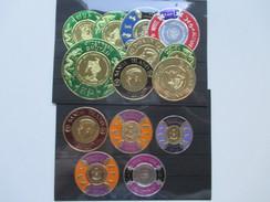 Afrika Bhutan / Burundi / Sanda Island Usw. Goldmarken / Goldene Briefmarken. Rund! 14 Marken! 1960er Jahre! - Stamps