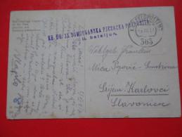 H2-Postcard-K.u.K Feldpost-Kr.Ug.33.Domobranska Pjesacka Pukovnija,II.Bataljon- 1917.To.Srjem.Karlovci - Croatia
