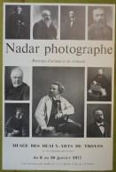 Affiche Du Musée Des Beaux-Arts De Troyes - NADAR Photographe - Portraits D'artistes Et De Critiques - 1977 - Affiches