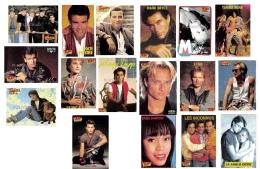 LOT De 17 Cartes Pub De Magazine  TOP SECRET Et  SUPER - Chanteurs -  Acteurs-  Années 80/90 Dos Vierge - 37 Scans - Entertainment