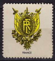 FRANCE - Coat Of Arms - LABEL CINDERELLA VIGNETTE - Cinderellas