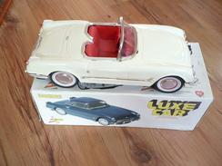 """Blechauto Cabrio """"Lux Car"""" Im Org. Karton (352) - Antikspielzeug"""